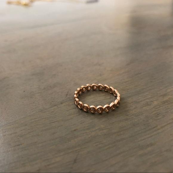 e2deca342 Pandora rose gold heart infinity ring sz. 7. M_5bb662eea31c330623d93ba0